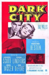 Dark City 1950 DVD - Charlton Heston / Lizabeth Scott